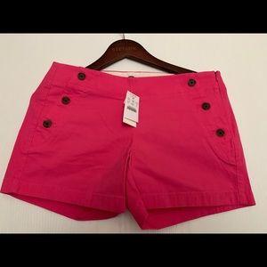 J. Crew City Fit hot pink shorts